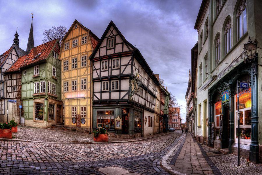 Old City Quedlinburg, Sachsen Anhalt, East Germany