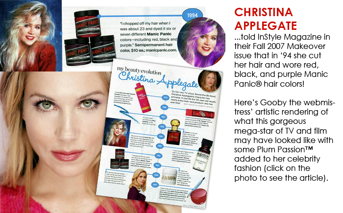 #Christina #Applegate Was Brave In 1994... #ManicPanic #Colouredhair #Dyedhairdontcare #bluebanana