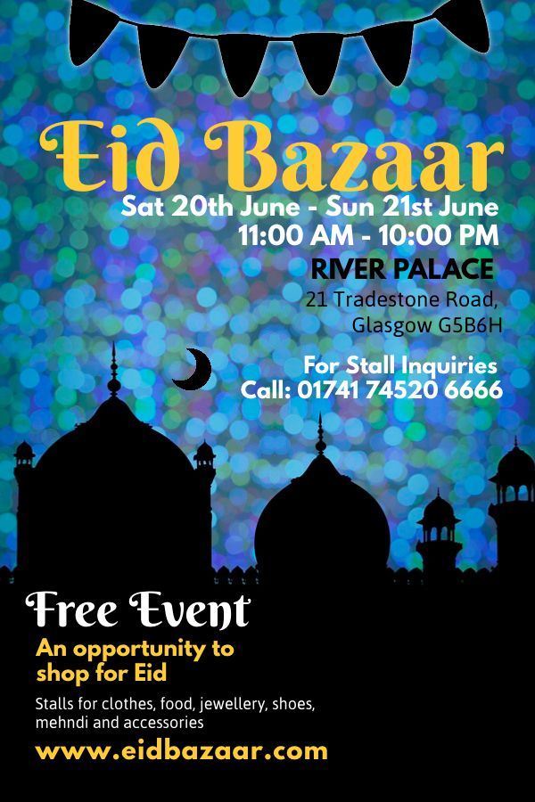 Eid party poster template Click to customize Eid Poster