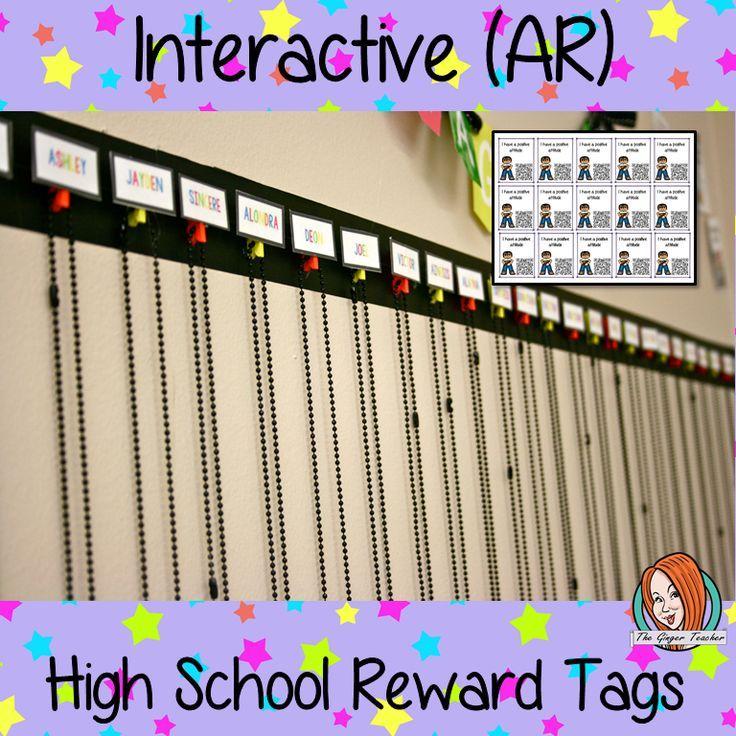 Interactive growth mind set reward tags interactive