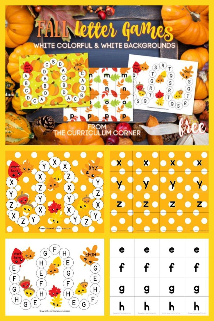 Fall ABC Game (With images) Abc games, Learning abc