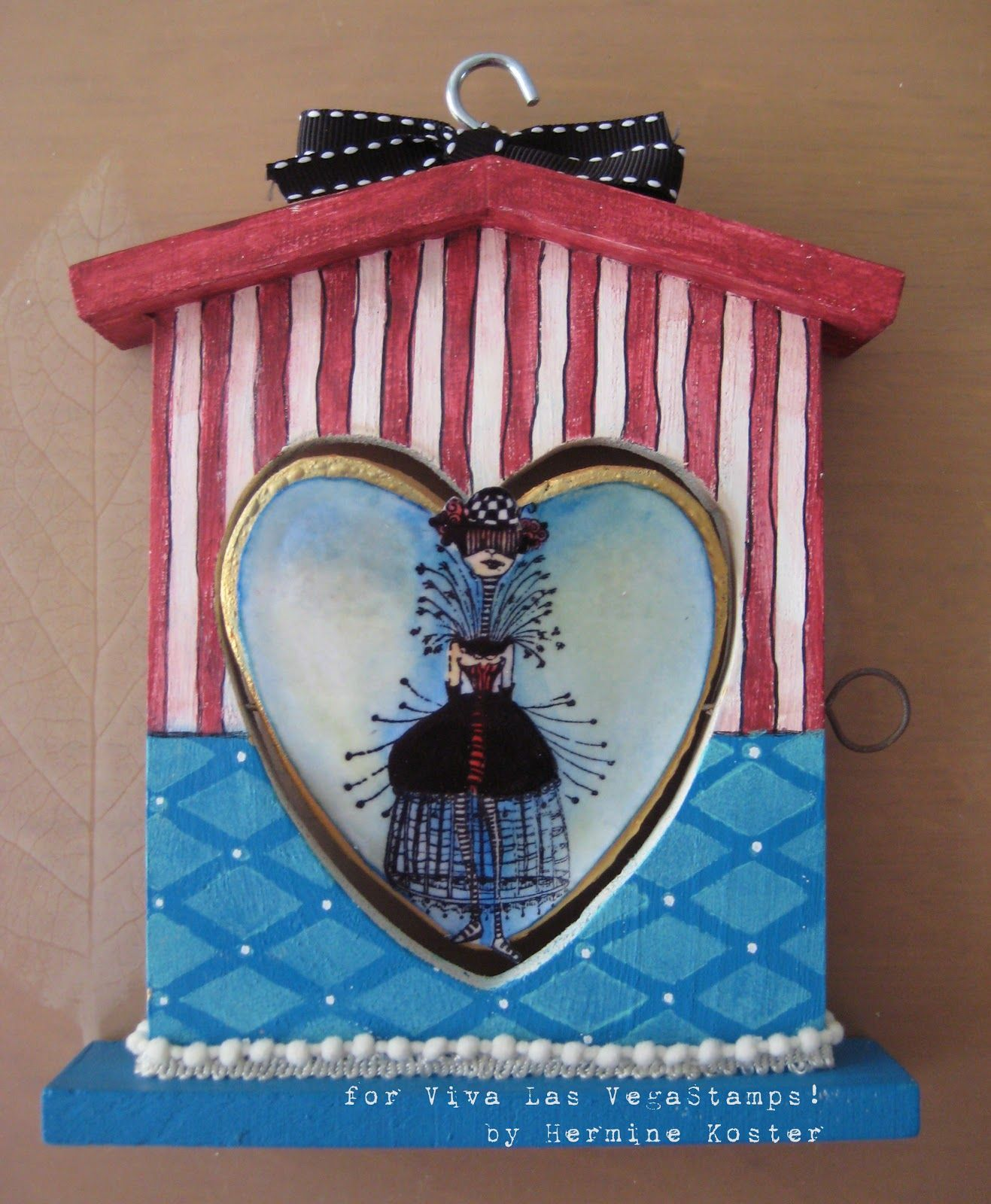 Viva Las Vegastamps!: circus themed bird house by Hermine Koster