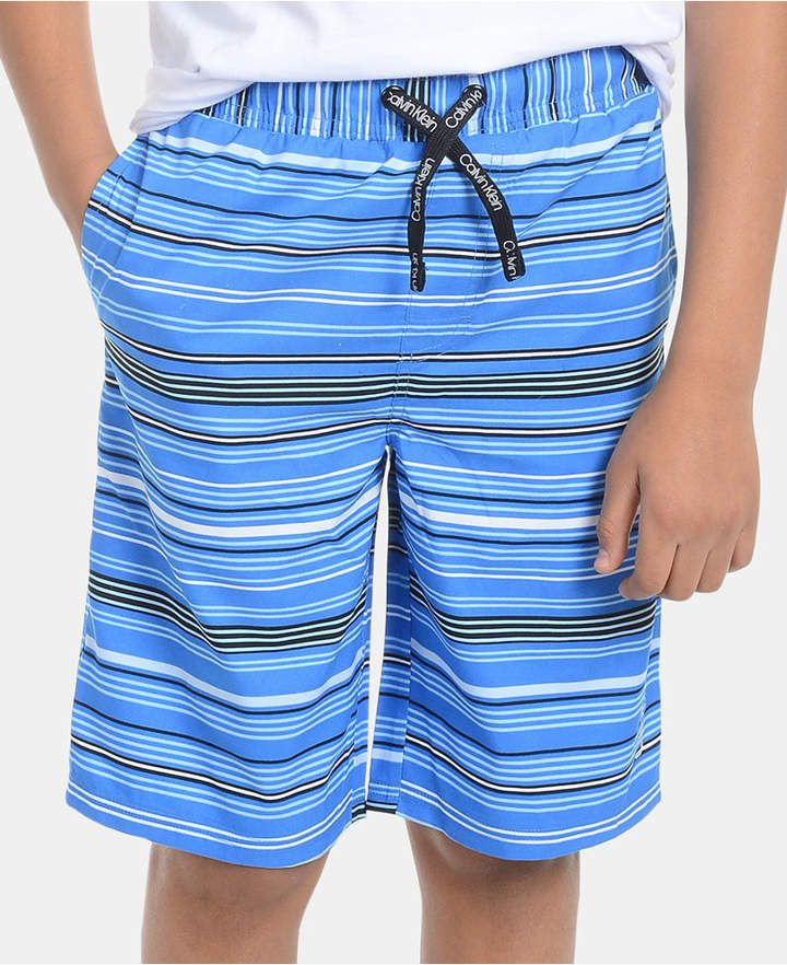 45cc36eacf Big Boys Striped Volley Swimsuit in 2019 | Products | Blue swimsuit ...