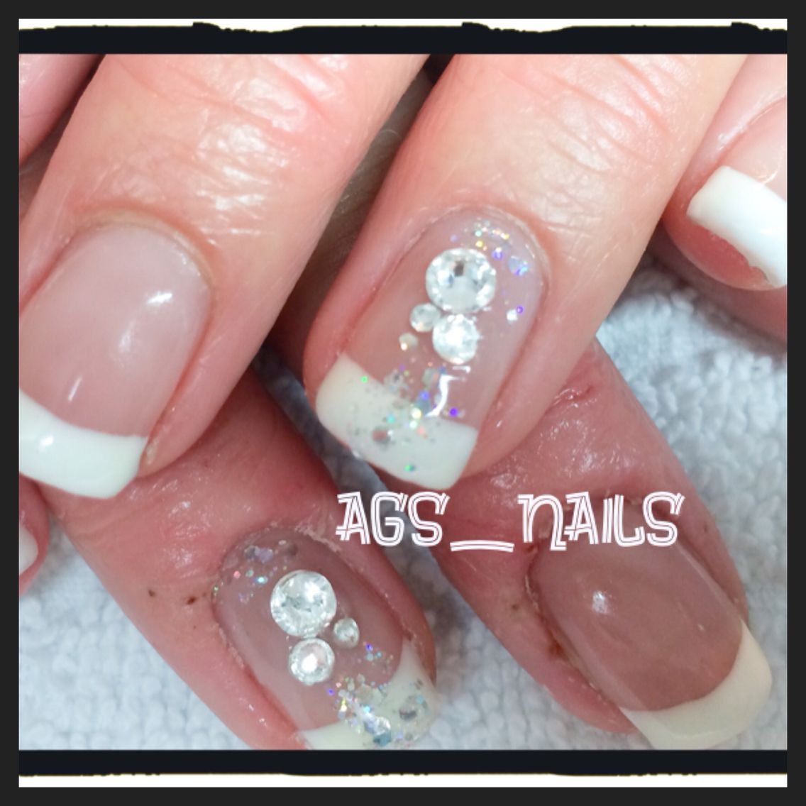 Gel nails white french