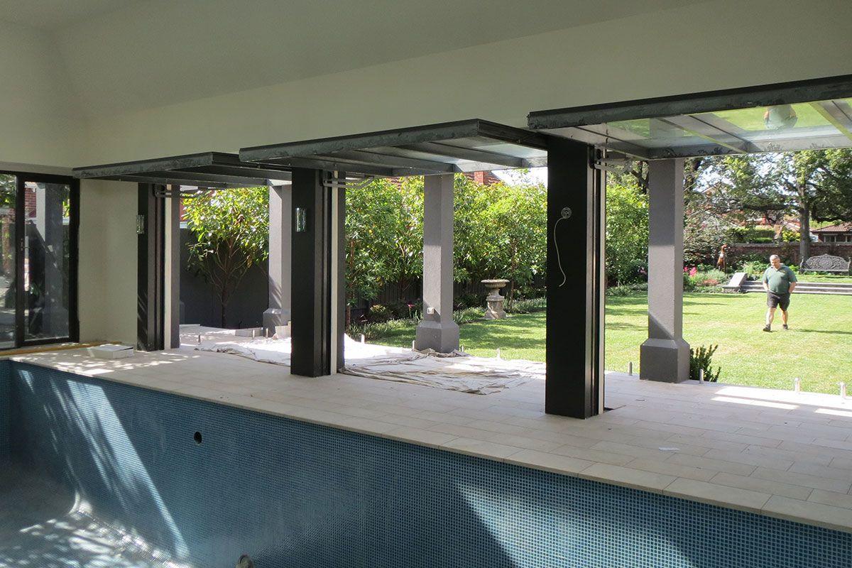 Pool Pavilion Tilt Doors & Walls | Smartech Door Systems