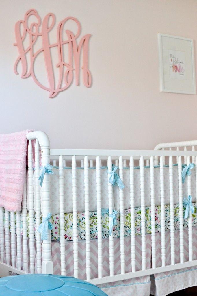 love the monogram above the crib