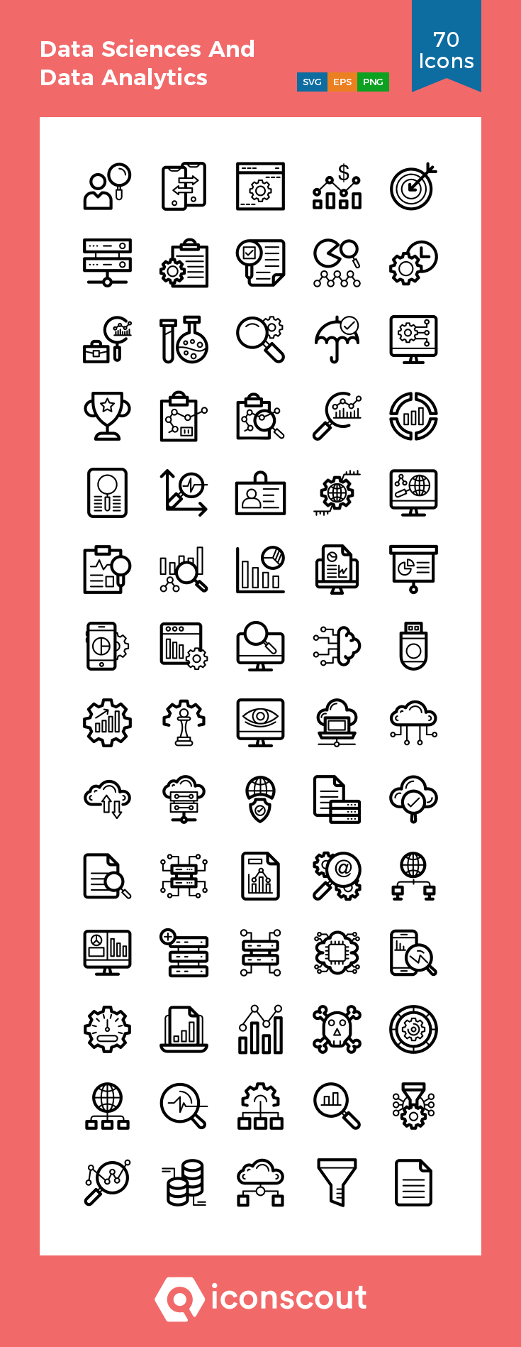 Download Data Sciences And Data Analytics Icon Pack Available In Svg Png Eps Ai Icon Fonts Data Science Data Analytics Data Icon