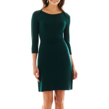 a4a3ebb6239 Liz Claiborne® 3 4-Sleeve Sweater Dress found at  JCPenney