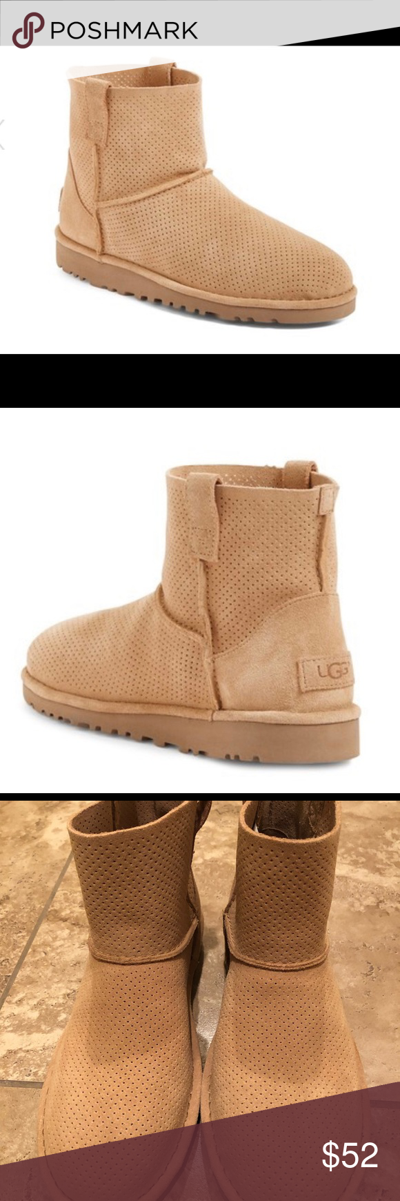 9566375d8c8 💕UGG CLASSIC UNLINED MINI PERFORATED BOOTS!💕 New! Super cute Ugg ...