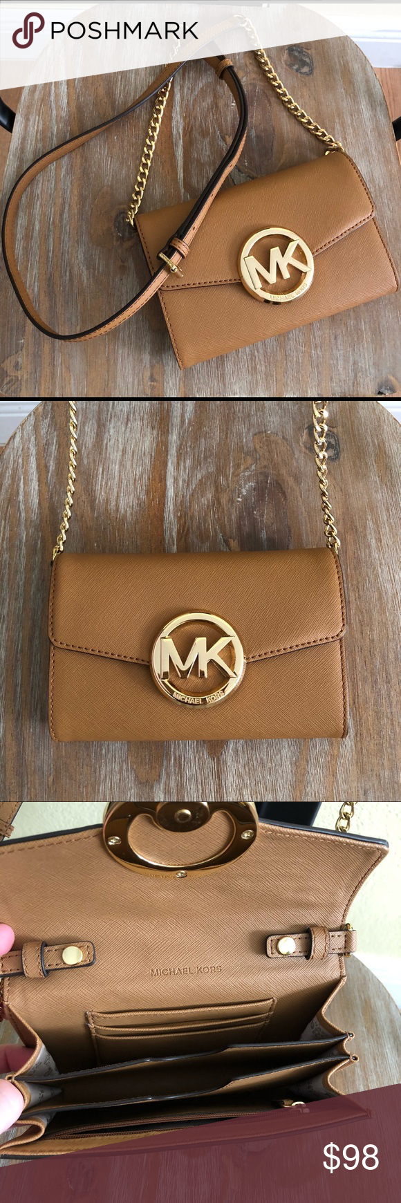 7422d5c81dd Spotted while shopping on Poshmark  Michael Kors Leather Crossbody Purse Clutch!   poshmark  fashion  shopping  style  MICHAEL Michael Kors  Handbags