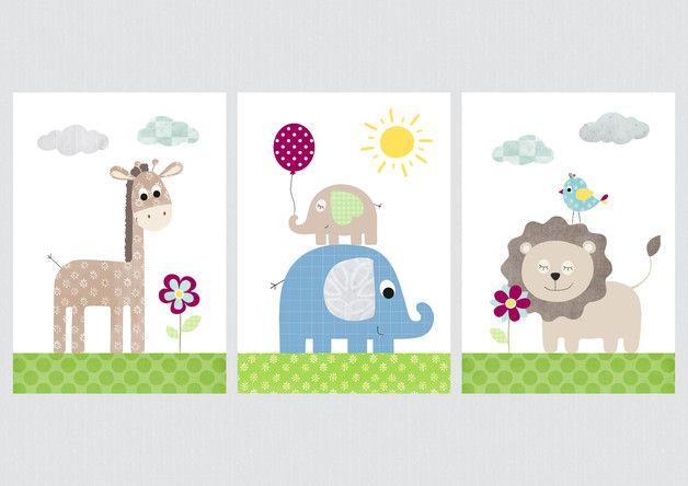 Kinderbilder fürs kinderzimmer giraffe  Du suchst noch schöne Wandbilder für Dein Babyzimmer / Kinderzimmer ...
