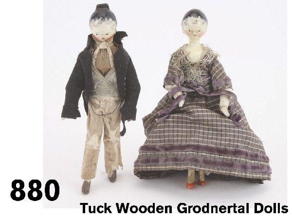 Antique Grodnertal dolls