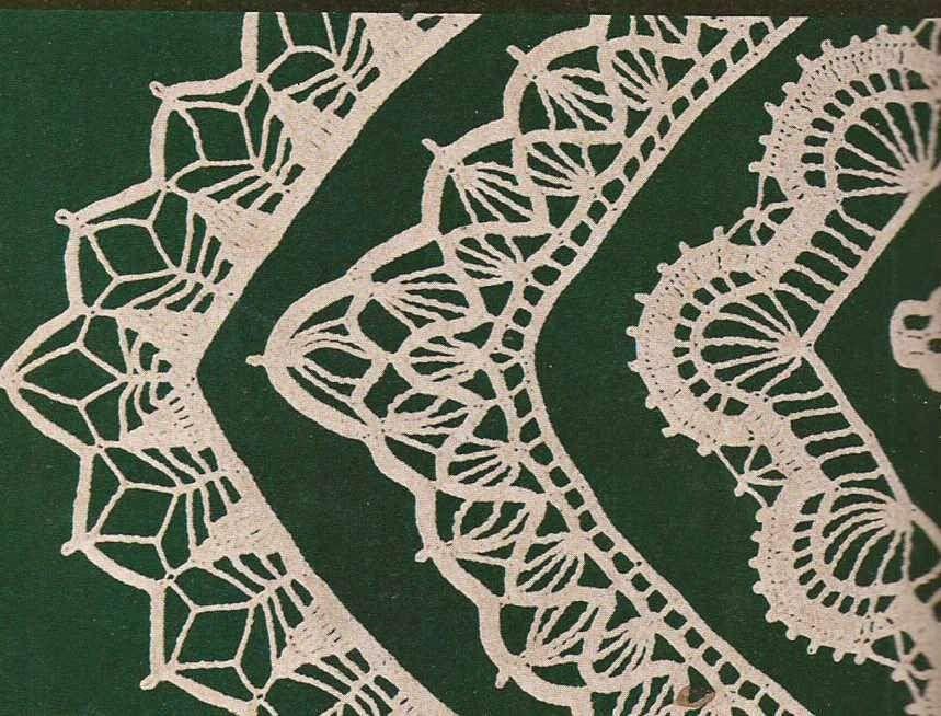Encajes y puntillas para manteles a Crochet | bordes y puntillas ...