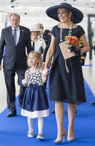 On May 20, 2016, Queen Maxima of The Netherlands baptizes the cruise ship MS Koningsdam from Holland America Line at the ceremony, held at the harbour of Rotterdam.