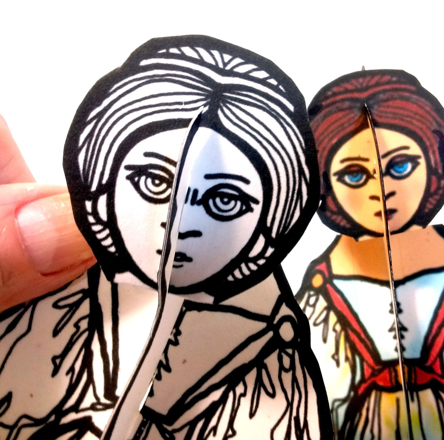 Ada Lovelace Set of Two Paper Doll - Printable Toy by PaperTownToys on Etsy