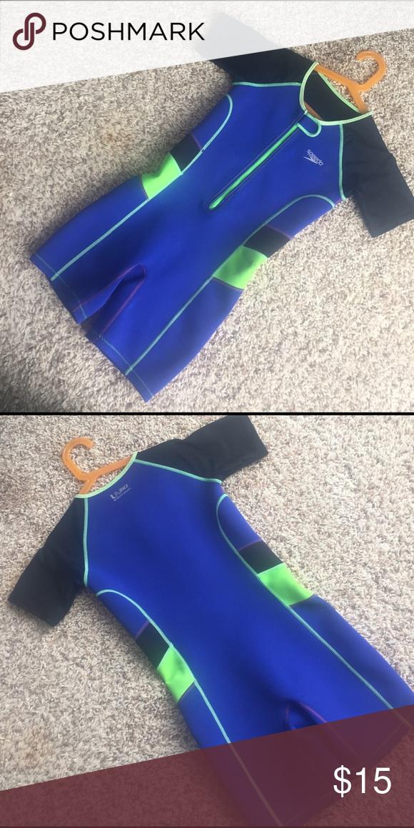 Kids Speedo wetsuit Kids Speedo wetsuit in size 7 8. Spandex sleeves for  better 84e3984de