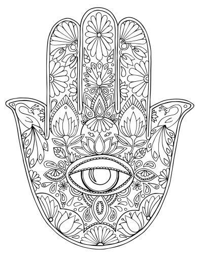 Pingl par karole potter sur coloring pinterest dessin - Coloriage main de fatma ...