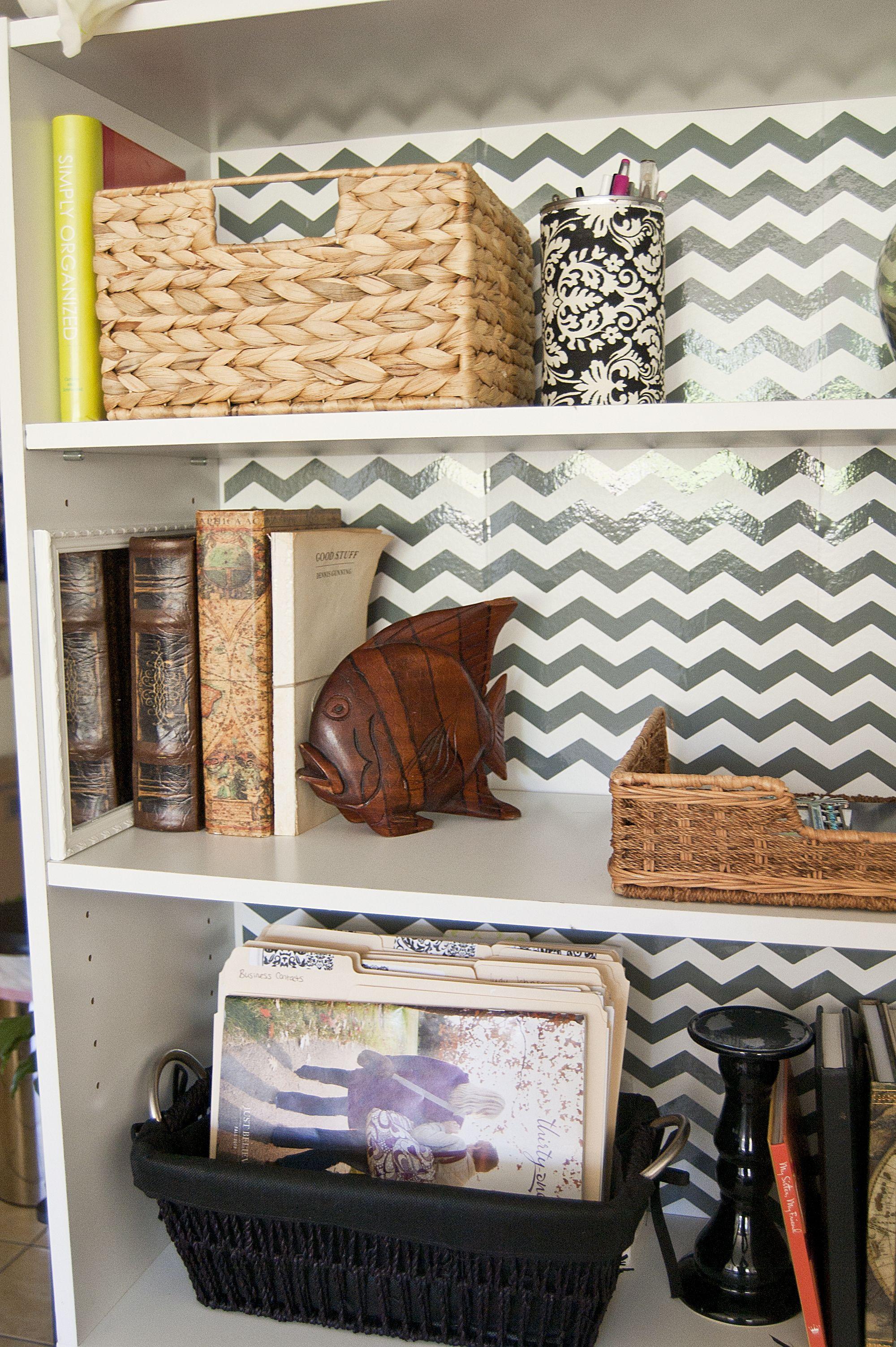 DIY Thursday Chevron Bookshelf Makeover Bookshelf