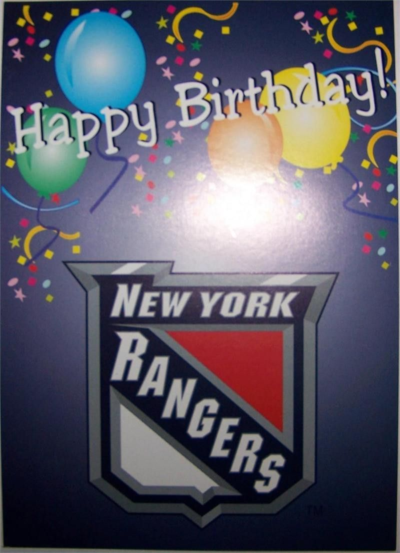 New York Rangers Happy Birthday Card Greeting