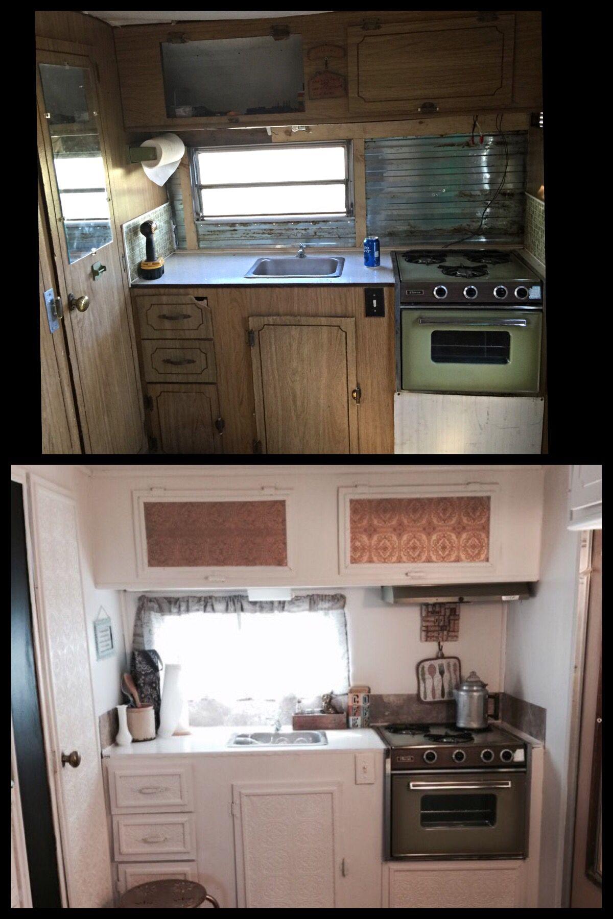 camper to glamper 1971 comet camper camping glamping. Black Bedroom Furniture Sets. Home Design Ideas