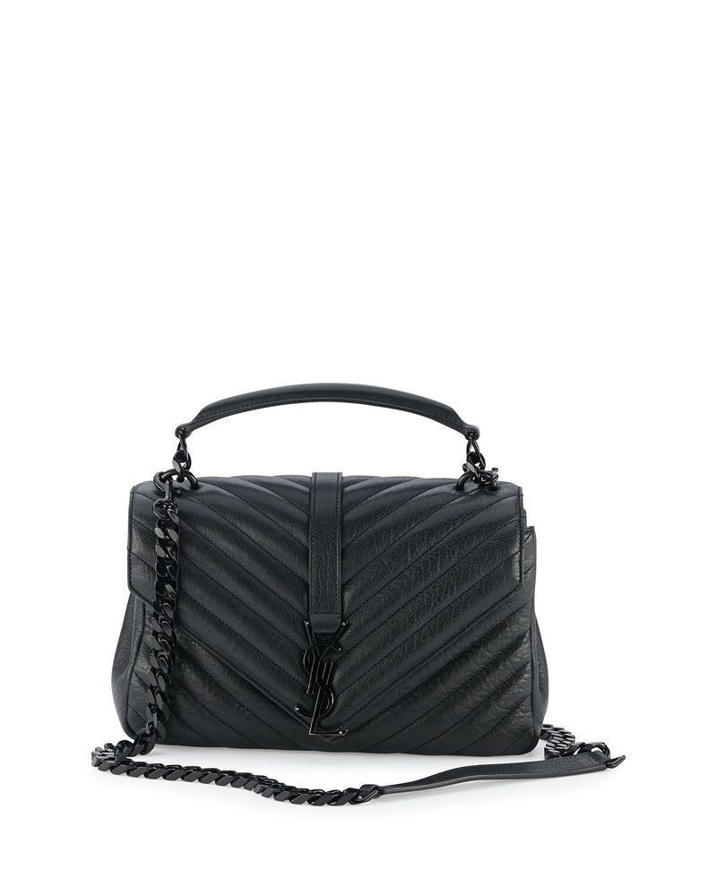 abe8d54dae 100%AUTH NEW WOMEN YVES SAINT LAURENT MONOGRAM MEDIUM COLLEGE QUILT  SHOULDER BAG #purses #fashion
