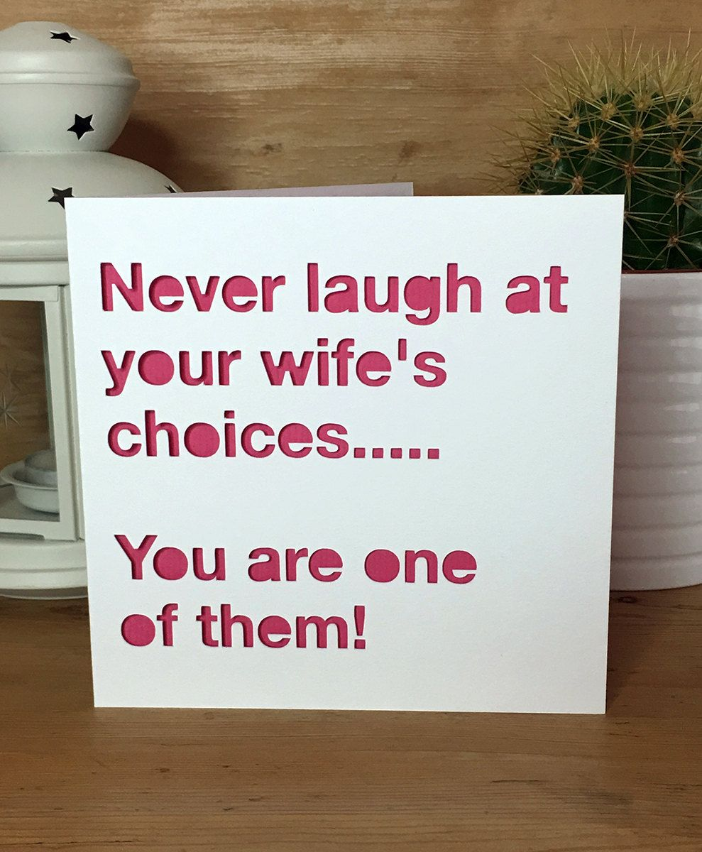 Funny anniversary card wedding husband wife