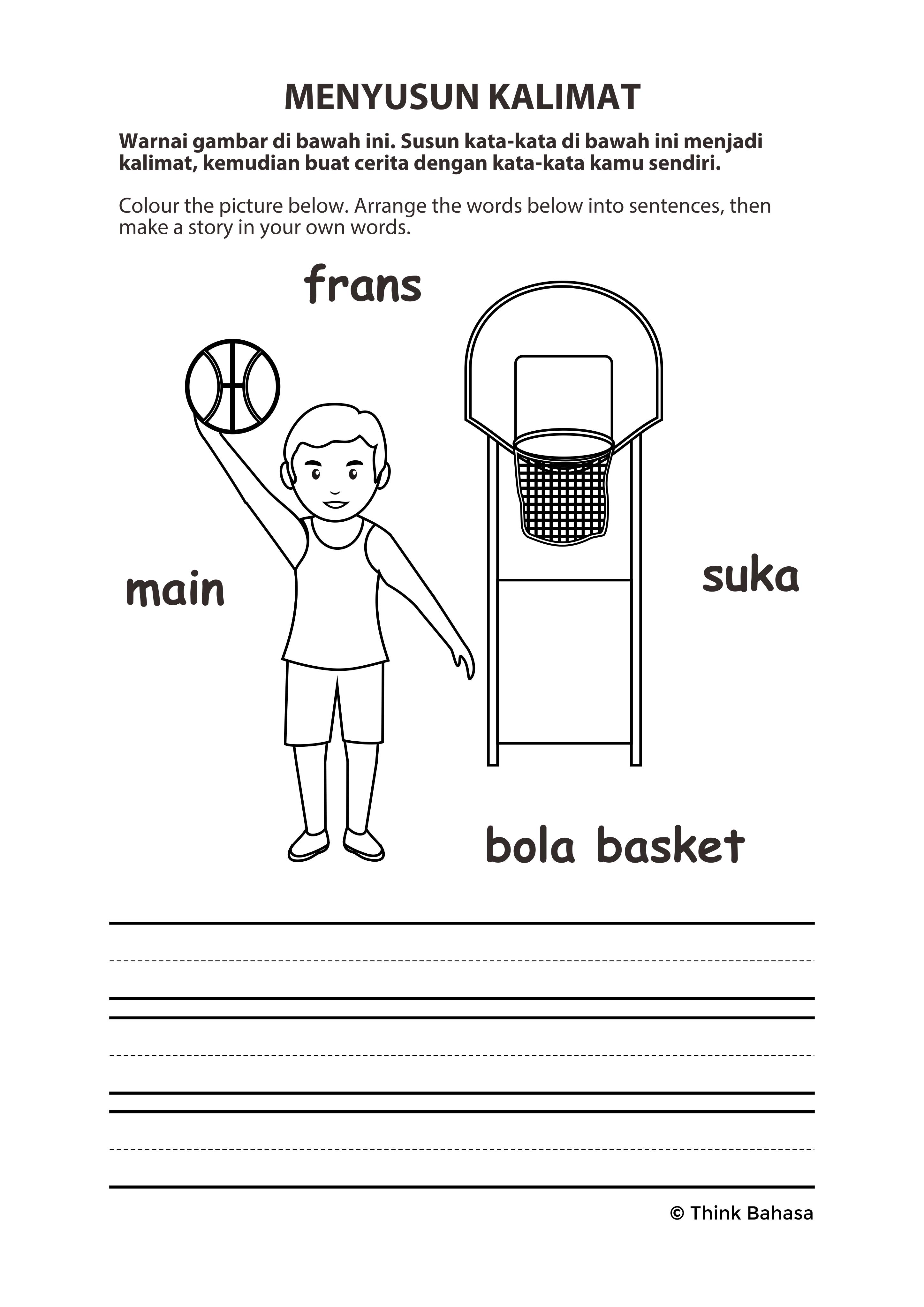 Primary Indonesian Lote Worksheet Tpt Printable