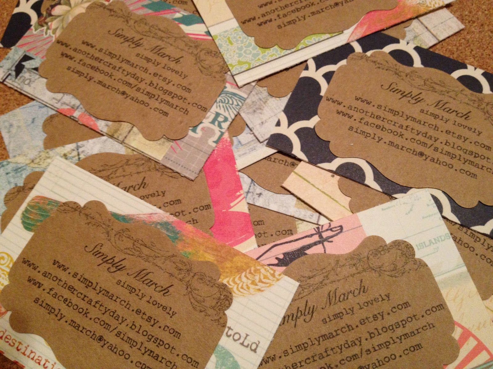 Diy business cards with info stamped onto plain paper then spray diy business cards with info stamped onto plain paper then spray mounted to beautiful cardstock reheart Gallery