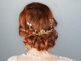 Braut Haarschmuck, 3er Set, Gold Strass Haarkamm