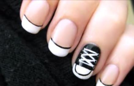 Converse Nail Art Design Step By Step Video Tutorial Nails