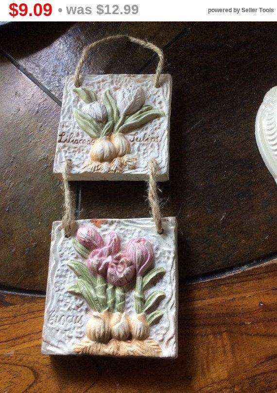 Large Decorative Garden Tiles Tied With Jute Lovely By EMTWTT