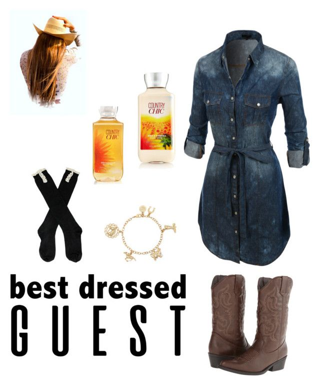"""""""Country Chic"""" by zmills151 on Polyvore featuring LE3NO, Madden Girl, Liz Claiborne, country, bestdressedguest and barnwedding"""