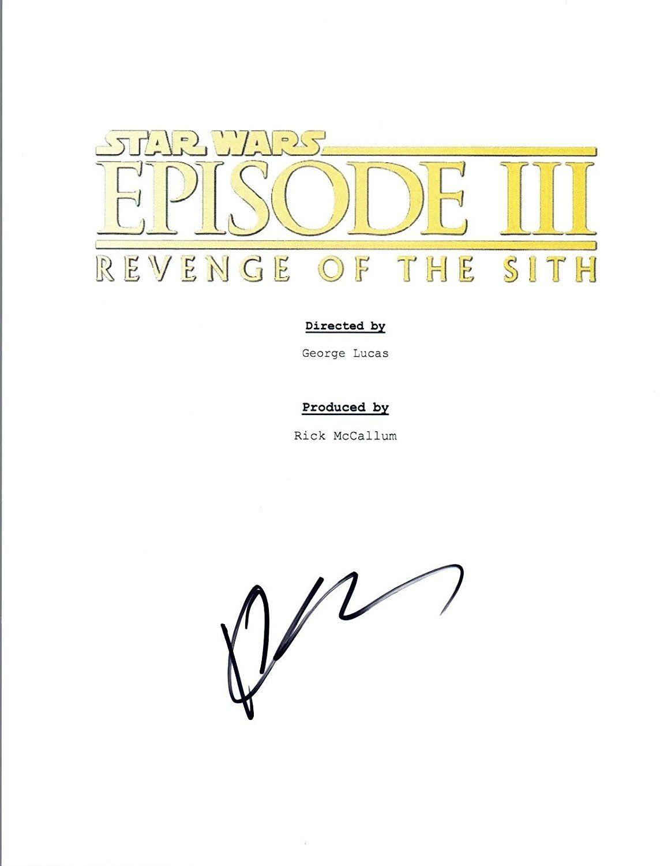 Hayden Christensen Signed Autograph Star Wars Revenge Of The Sith Script Coa Vd Revenge Sith Hayden Christensen