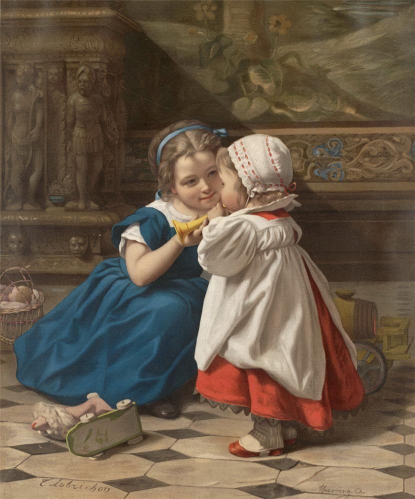 Старинные картинки дети