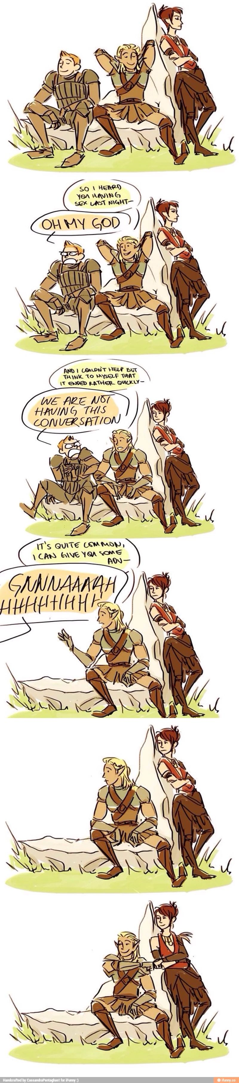 Best Party Banter Ever Dragon Age Funny Dragon Age Memes Dragon Age Comics