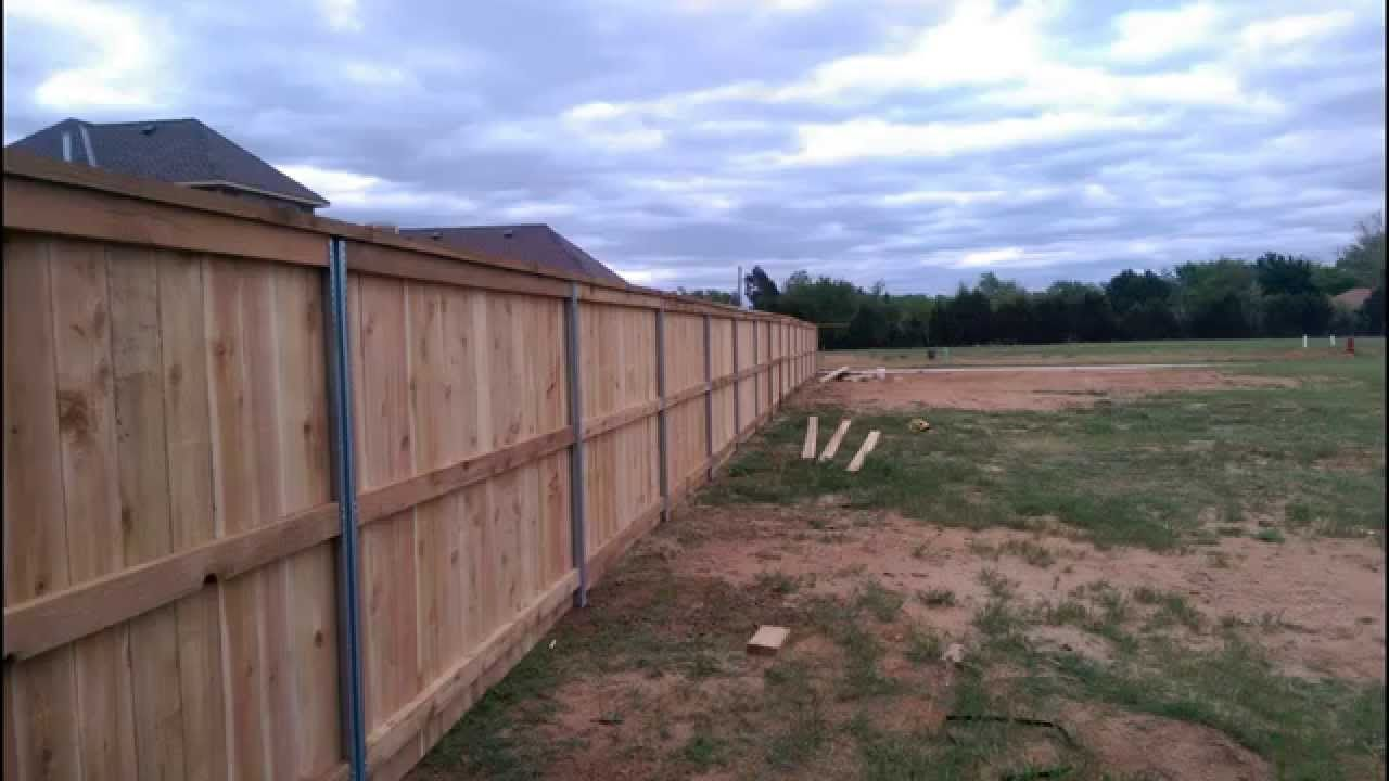 Metal Fence Post Wooden Fence Wooden Fence Metal Fence Posts