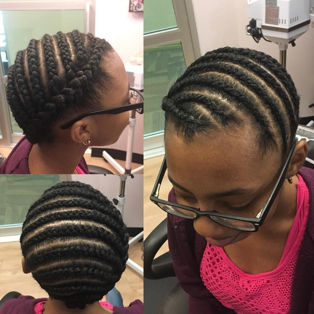 Braided protective style on Transitioning hair ...
