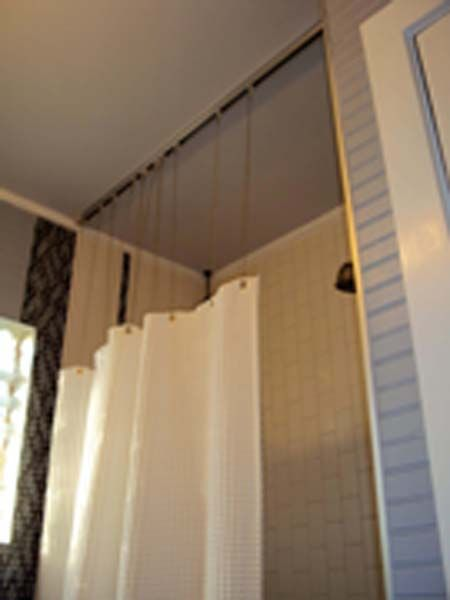 shower curtain track