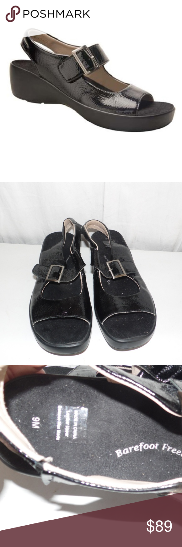 d74959399 Barefoot Freedom Drew Avalon Black Sandal 9 M Brand new with no box - never  been