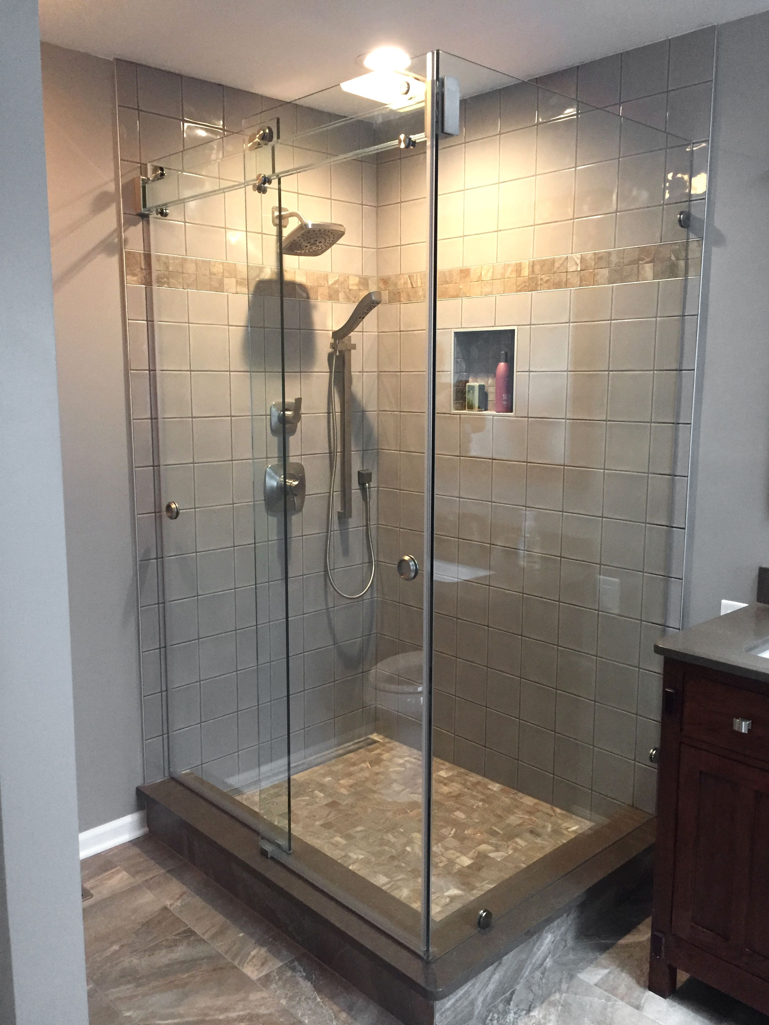 Barn Door Style Shower Enclosure All Glass Glass Shower Doors Shower Doors Glass Shower
