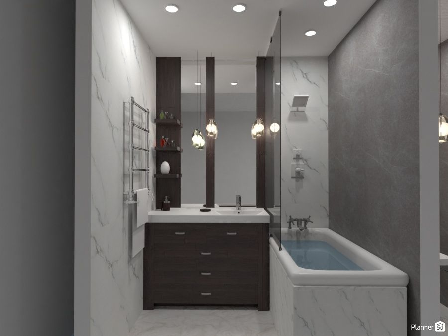 Modern Bathroom Black And White Interior Planner 5d Interior