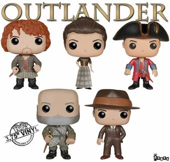 Outlander Funko Pop Figurine Set Outlander Gifts Outlander Funko