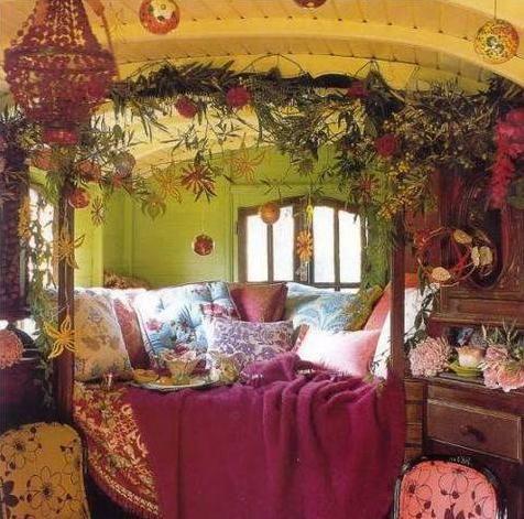 As boho chic as the interior of a gypsy vardo Dream Home