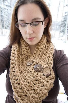 The Denali Scarf, Pattern by Over The Moon Hat Design.   Instant download on Craftsy.
