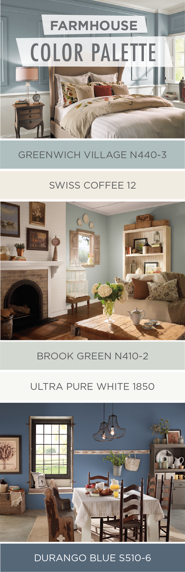 Farmhouse style is all the rage right now and for good reason check out this collection of farmhouse chic color palettes from behr paint to find the
