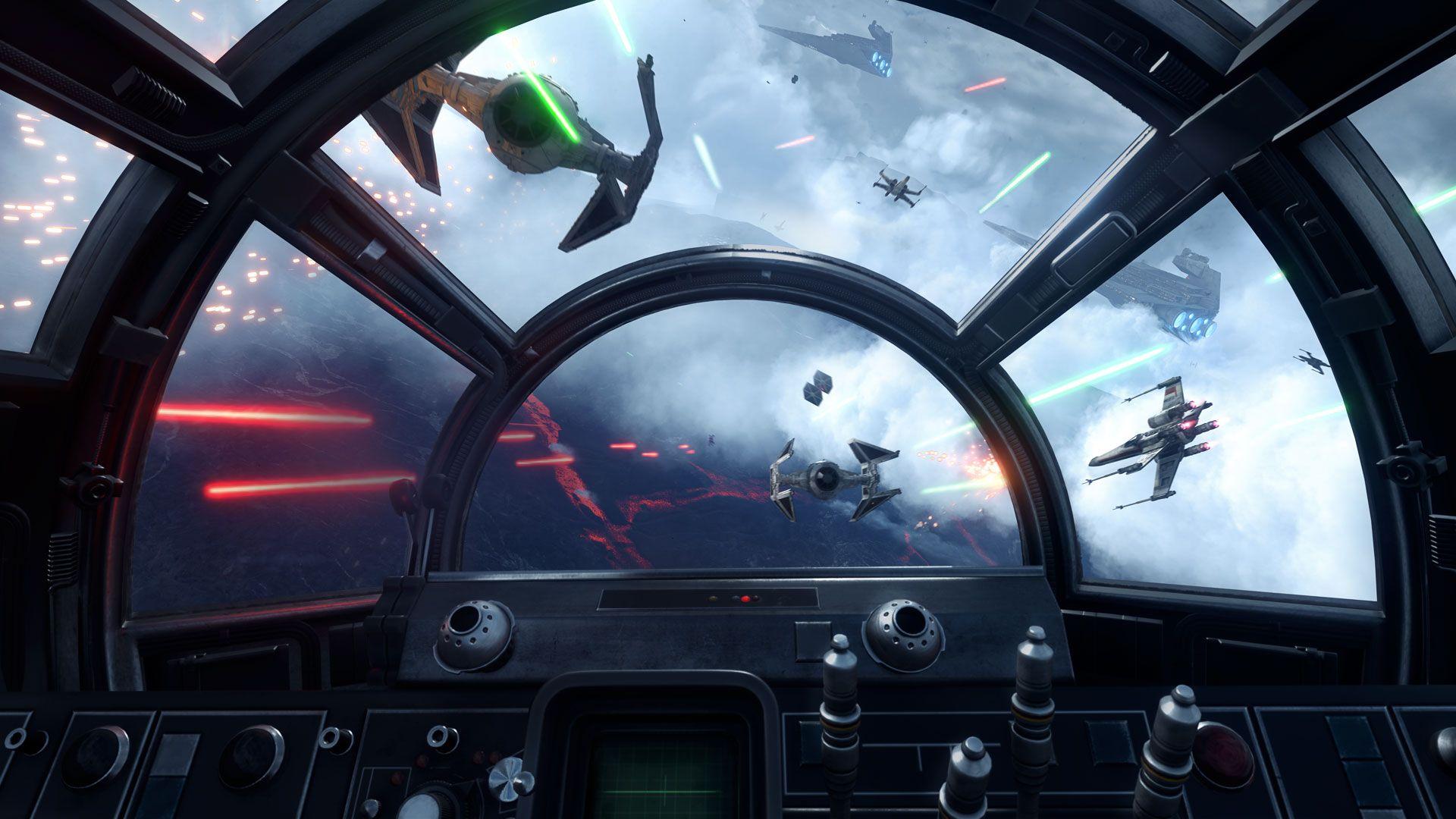 Displaying images for millenium falcon cockpit wallpaper - Star Wars Battlefront Millenium Falcon Cockpit View