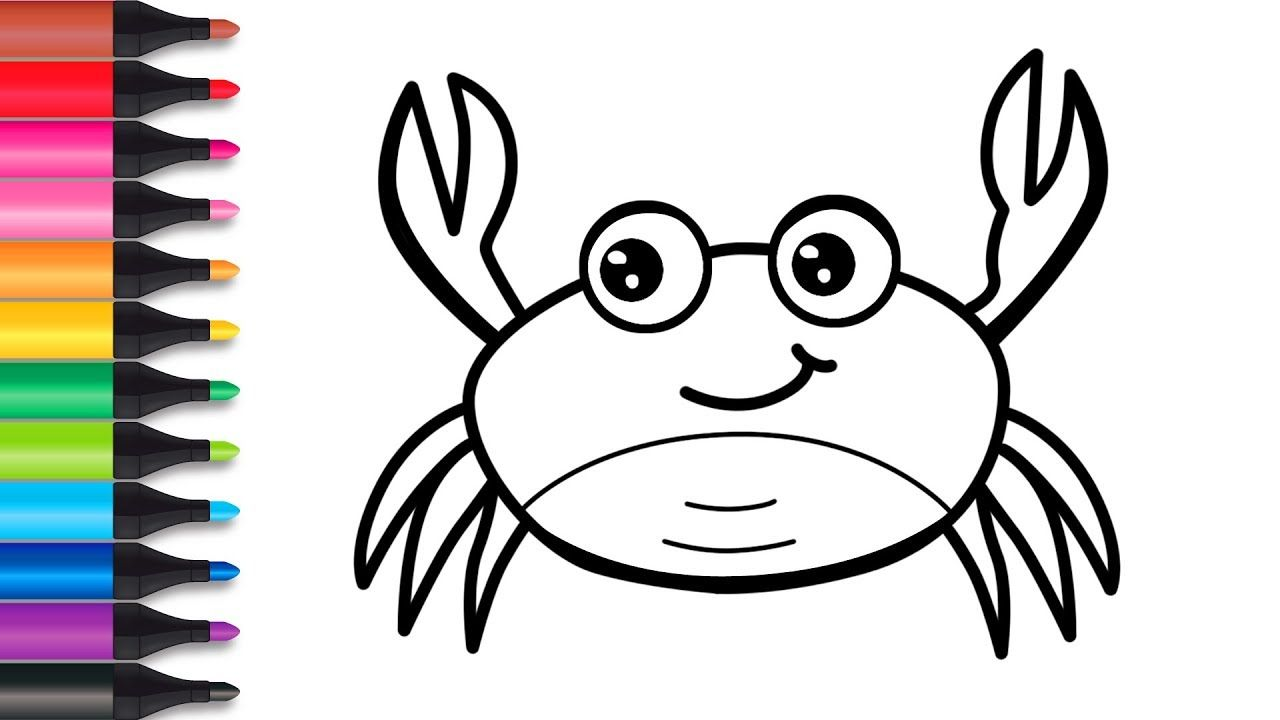 How To Draw Crab And Turtle Drawing And Coloring For Kids Toy Art Youtube