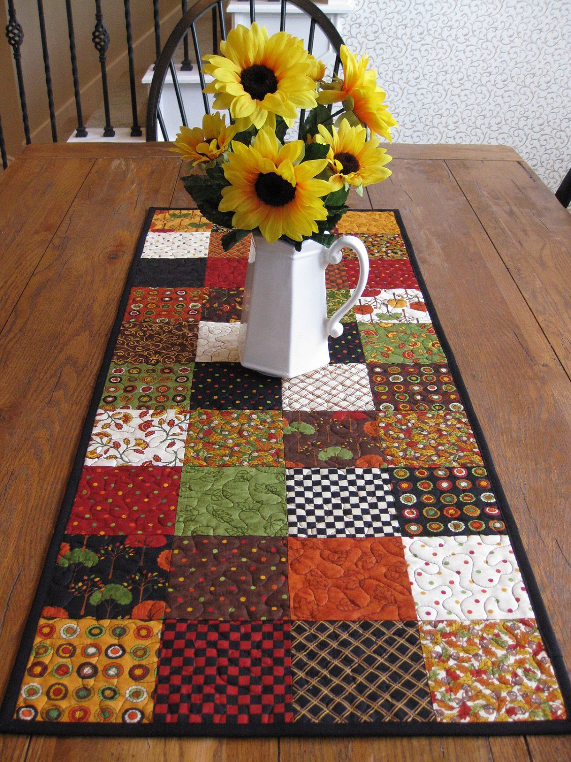 Saltbox Harvest Table Runner   Sold On Etsy   Is Lovely Blending Of Fall  Colors   Could Be Made At Home