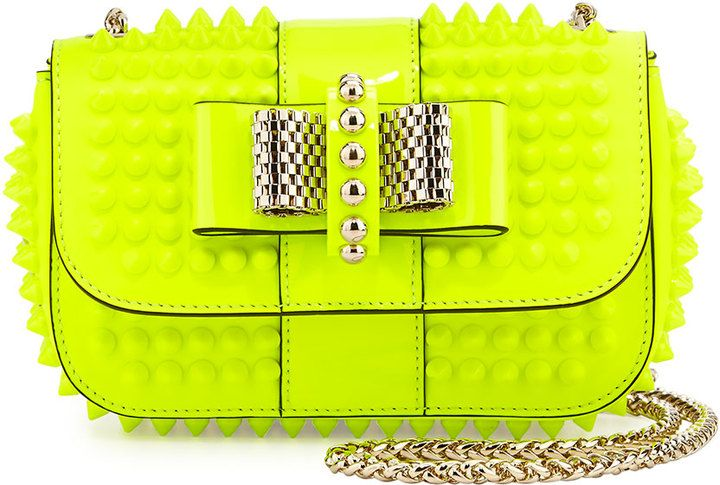 9345cc5fec2 Christian Louboutin Sweet Charity Small Crossbody Bag, Neon Yellow ...