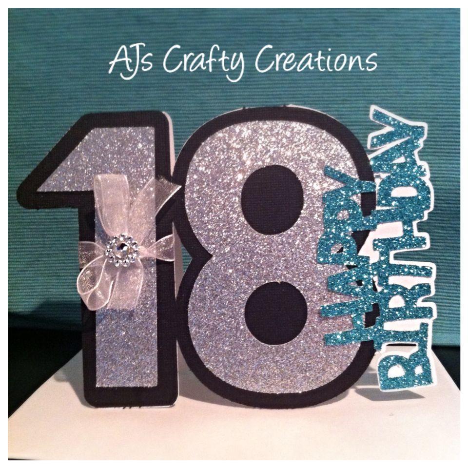 Cricut Craft Room Free Shapes 18th Birthday Card 18th Birthday Cards Cricut Birthday Cards Girl Birthday Cards